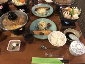 豪勢な夕食